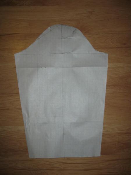 Построение основы куртки для пижамы