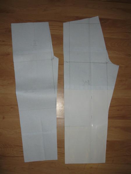 Построение выкройки штанишек для пижамки