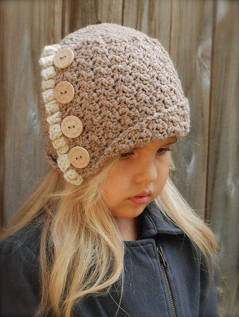 Вязанные шапочки для девочек