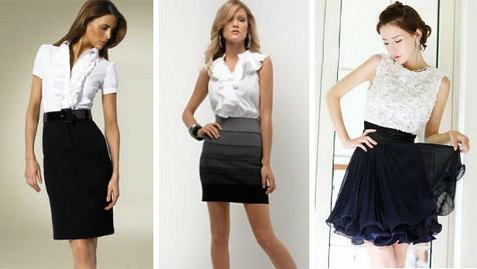 Блузки и юбки. Выбор.