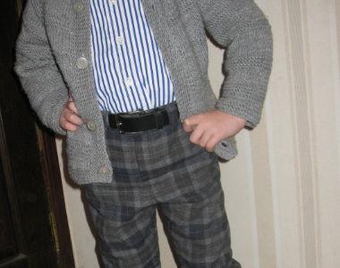 Шьем утепленные брюки для ребенка.