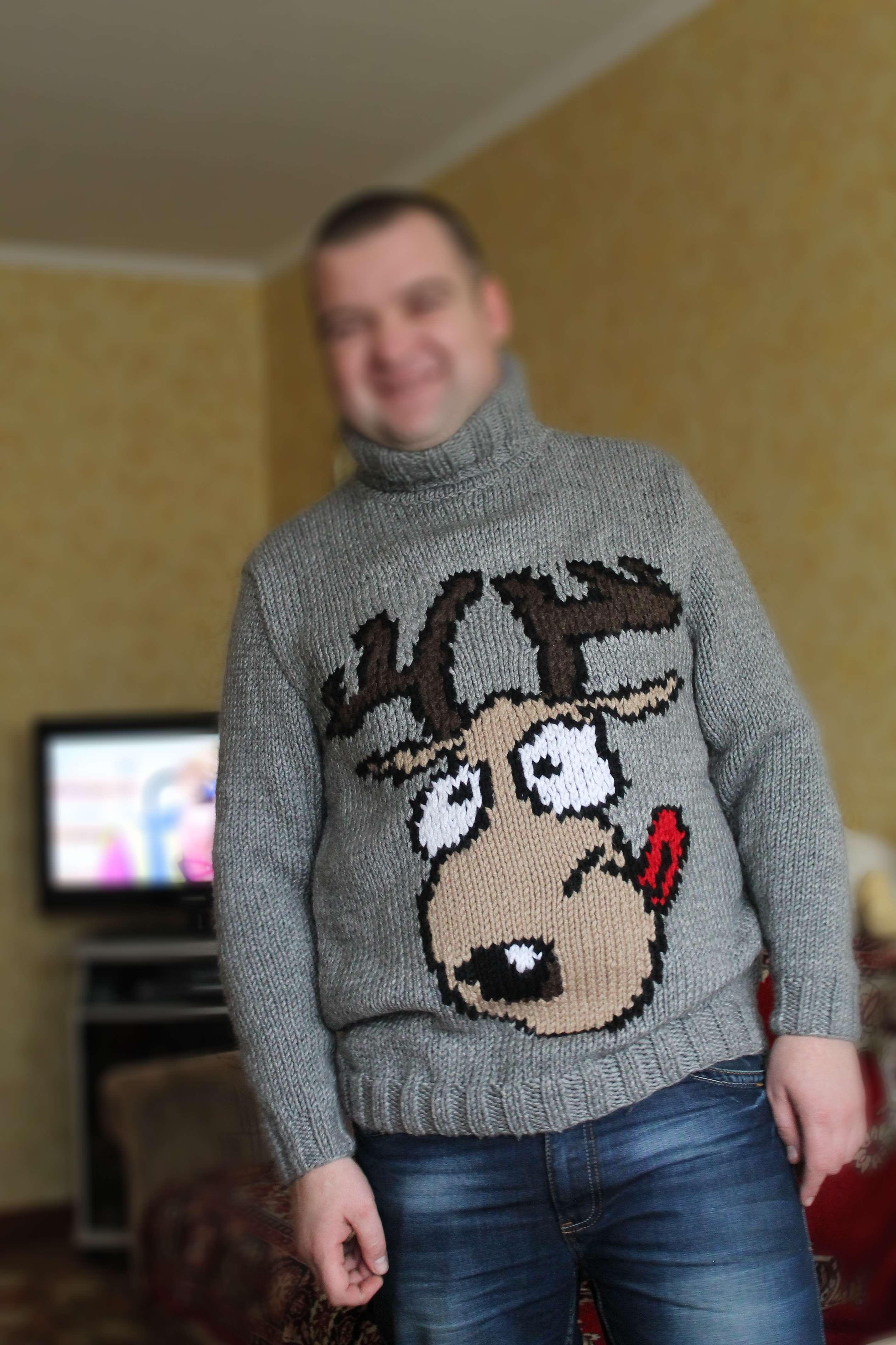Свитер с оленями схема вязания спицами фото 991
