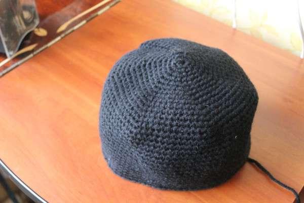Вяжем шапку-шлем к 23 февраля.