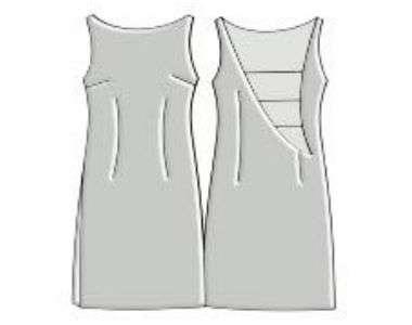 PDF выкройка трикотажного платья с открытой спиной. Скачать
