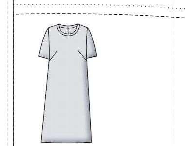 Простое платье с выкройкой для размеров  50, 52, 54, 56.