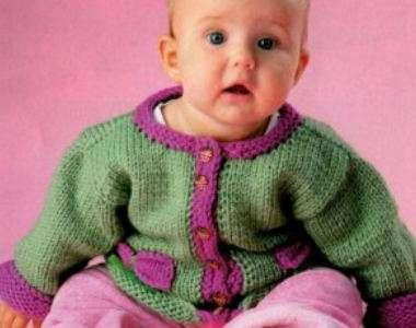 Вязание спицами кофточек со схемами – кофточка для девочки