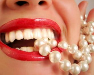 Белые зубки