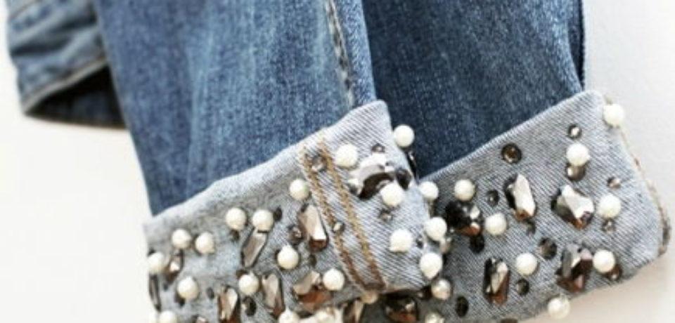 Украшаем джинсы своими руками