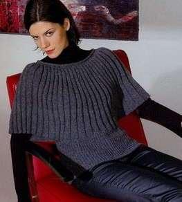 Серый пуловер схема