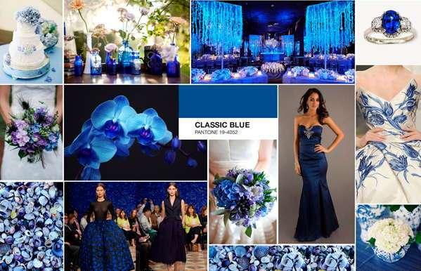 Классический синий для свадьбы