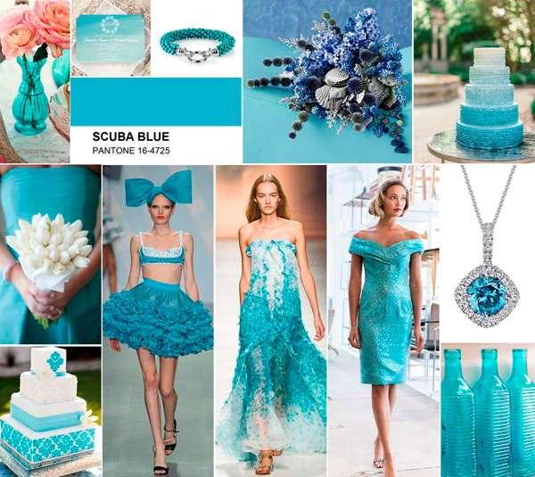 Лазурно-голубой для свадьбы
