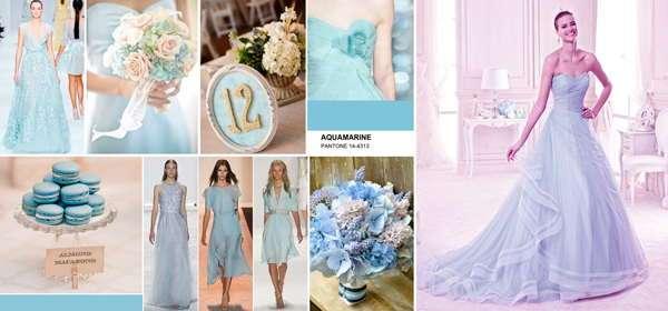 Аквамариновый для свадьбы