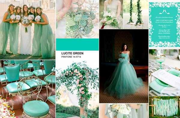 Люцитовый зеленый для свадьбы
