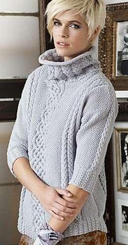 Вязание свитера спицами: 3 свитера на зиму женских
