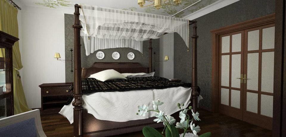 Украсить кровать балдахином