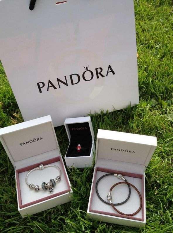 Кожаный плетеный браслет от Pandora