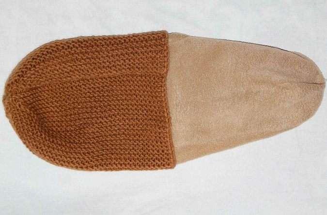 Шапка с готовой подкладкой из флиса