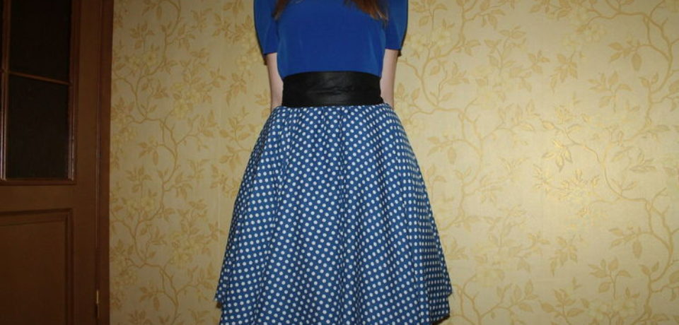 Простая юбка в стиле ретро – Юбка солнце. Построение и пошив.
