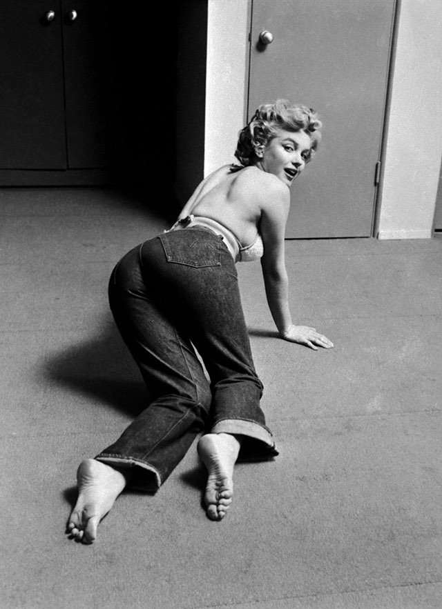 Фотография Мэрилин Монро в 501 джинсах левайс