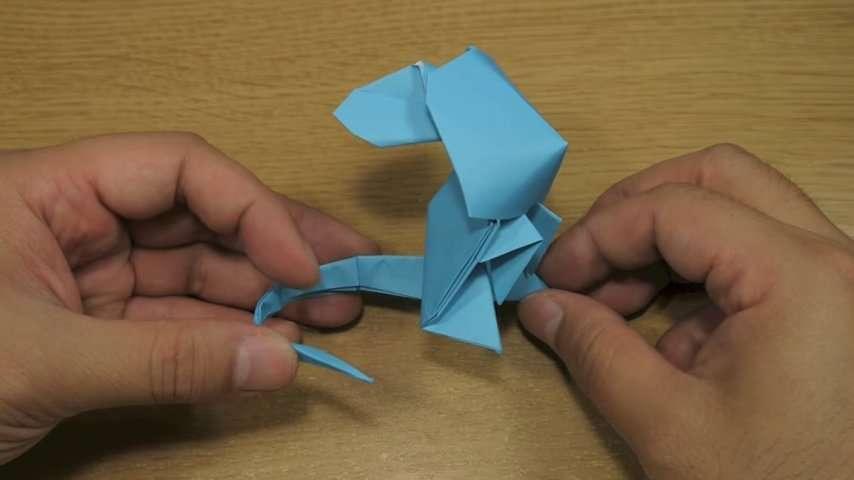 Оригами Мышь за схемой Jacky Chan