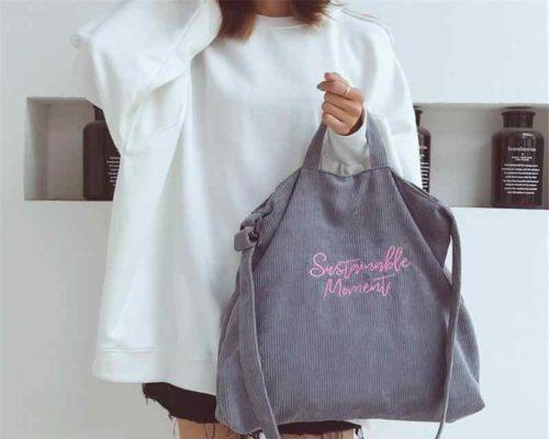 Достоинства тканевых сумок